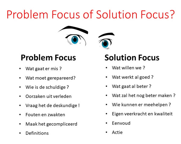 problem focus versus solution focus